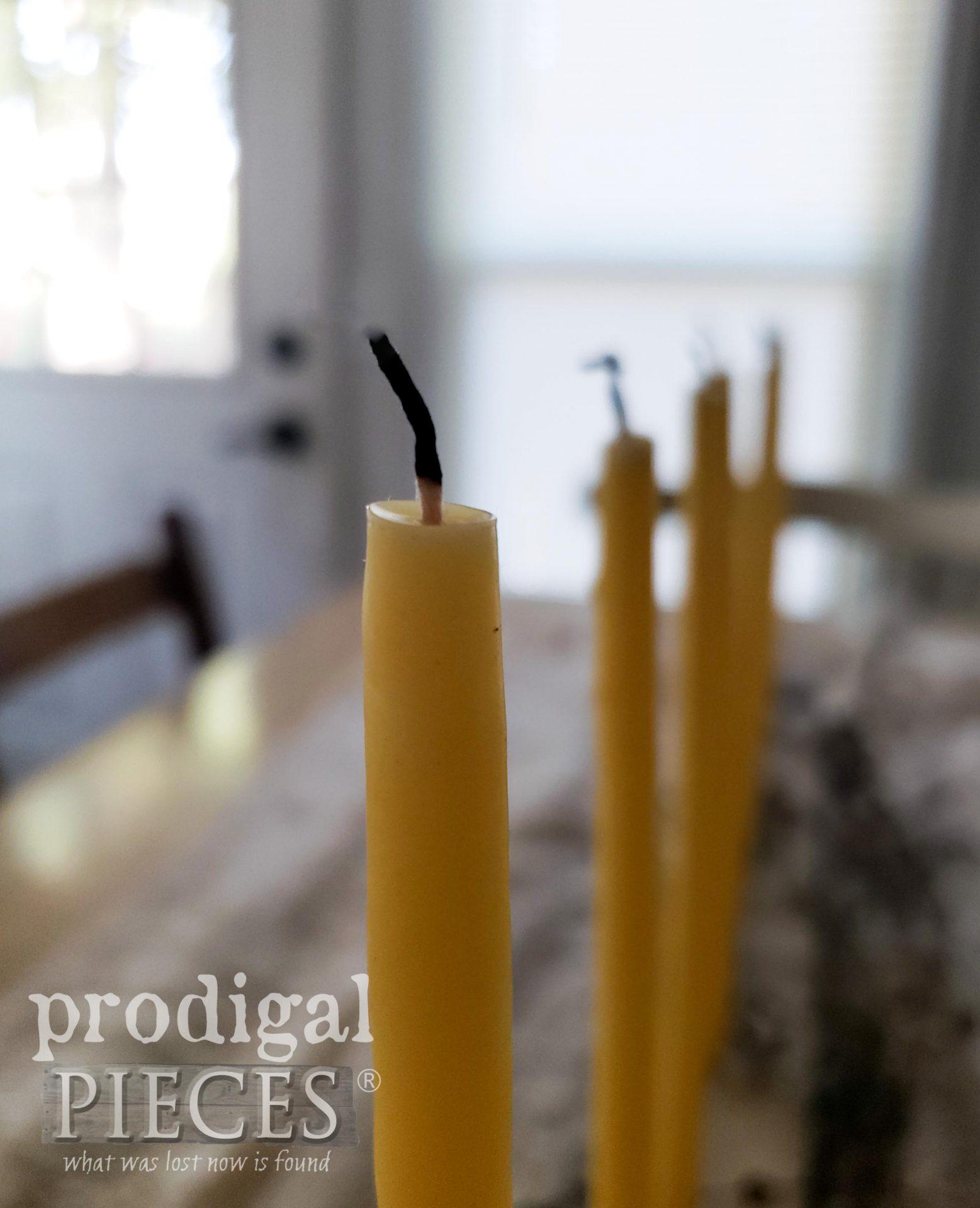 Burned Candle Wick | prodigalpieces.com #prodigalpieces