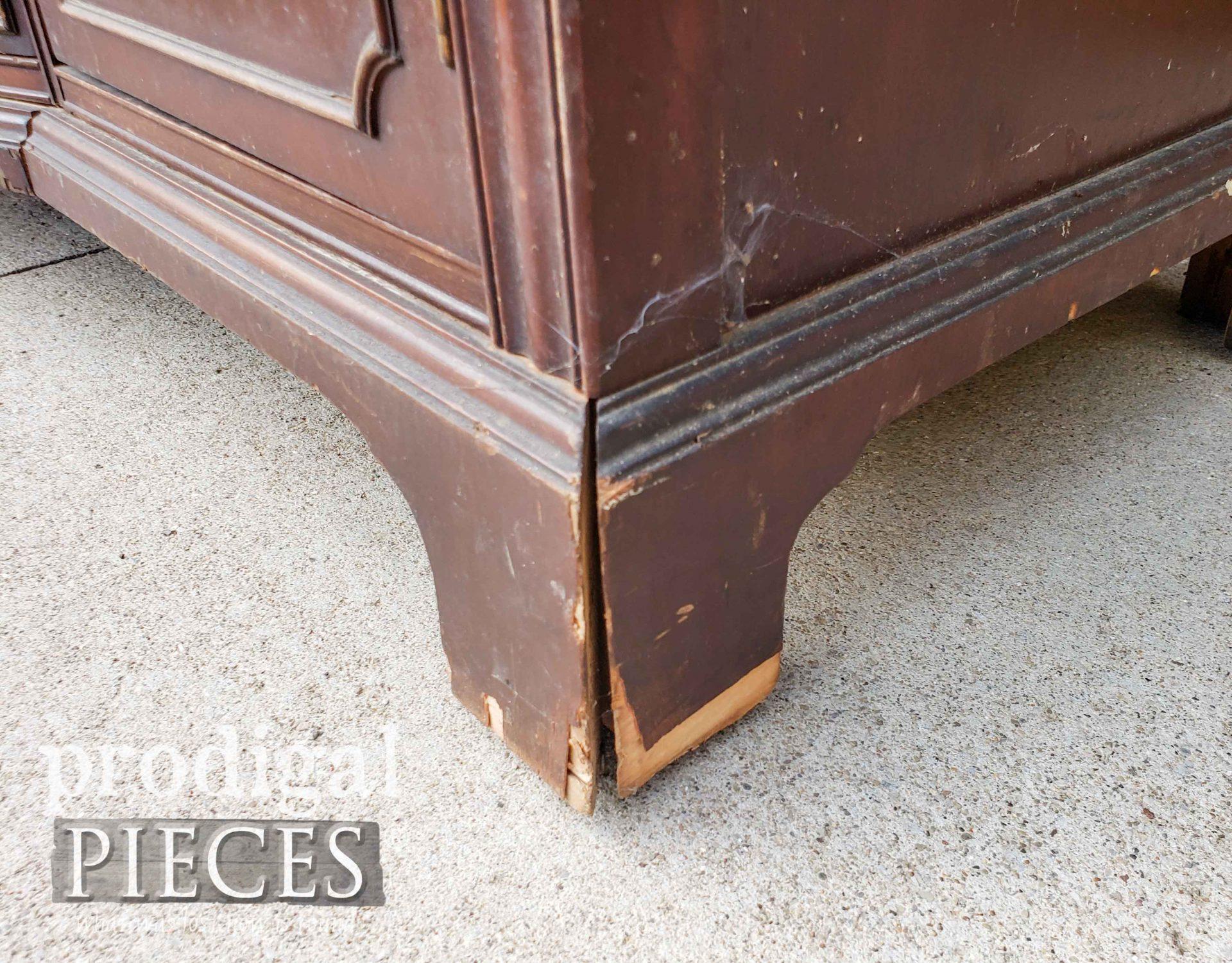 Damaged Buffet Foot and Skirt | prodigalpieces.com