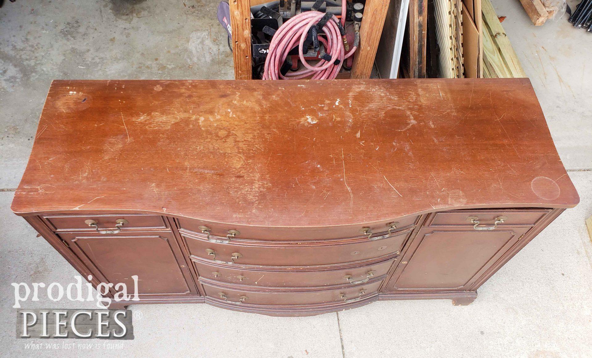 Damaged Vintage Buffet Top | prodigalpieces.com