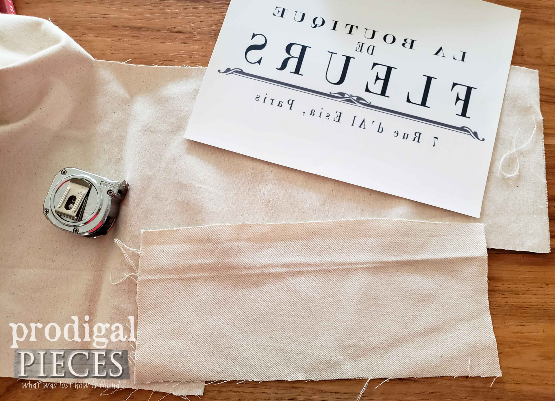DIY French Graphic Transfer onto Fabric by Prodigal Pieces | prodigalpieces.com #prodigalpieces