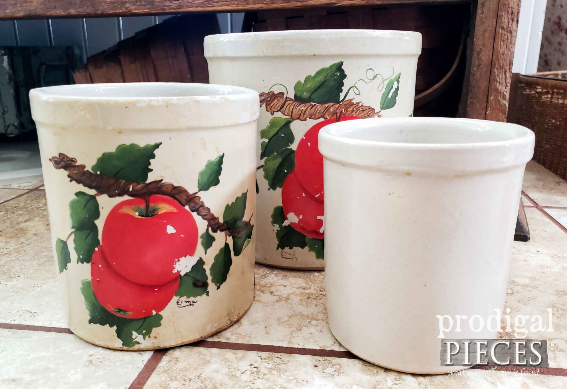 Farmhouse Crocks Cleaned | prodigalpieces.com