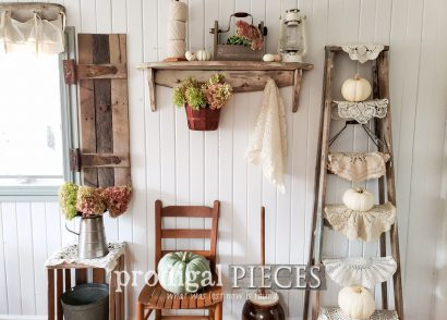 Featured Fall Fall Vignette from Thrifted Finds by Larissa of Prodigal Pieces with video tutorial | Head to prodigalpieces.com #prodigalpieces #diy #home #homedecor #farmhouse #fall #autumn