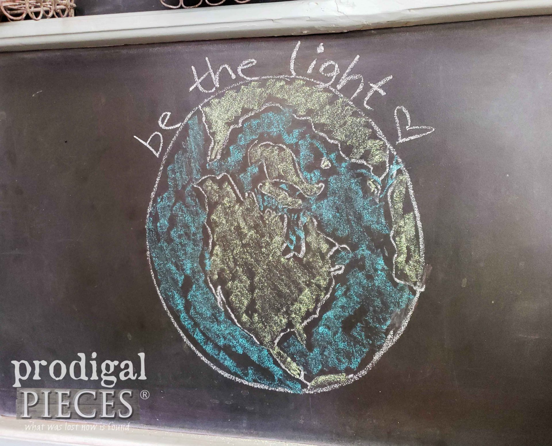 Globe Chalkboard Art by Larissa of Prodigal Pieces | prodigalpieces.com #prodigalpieces