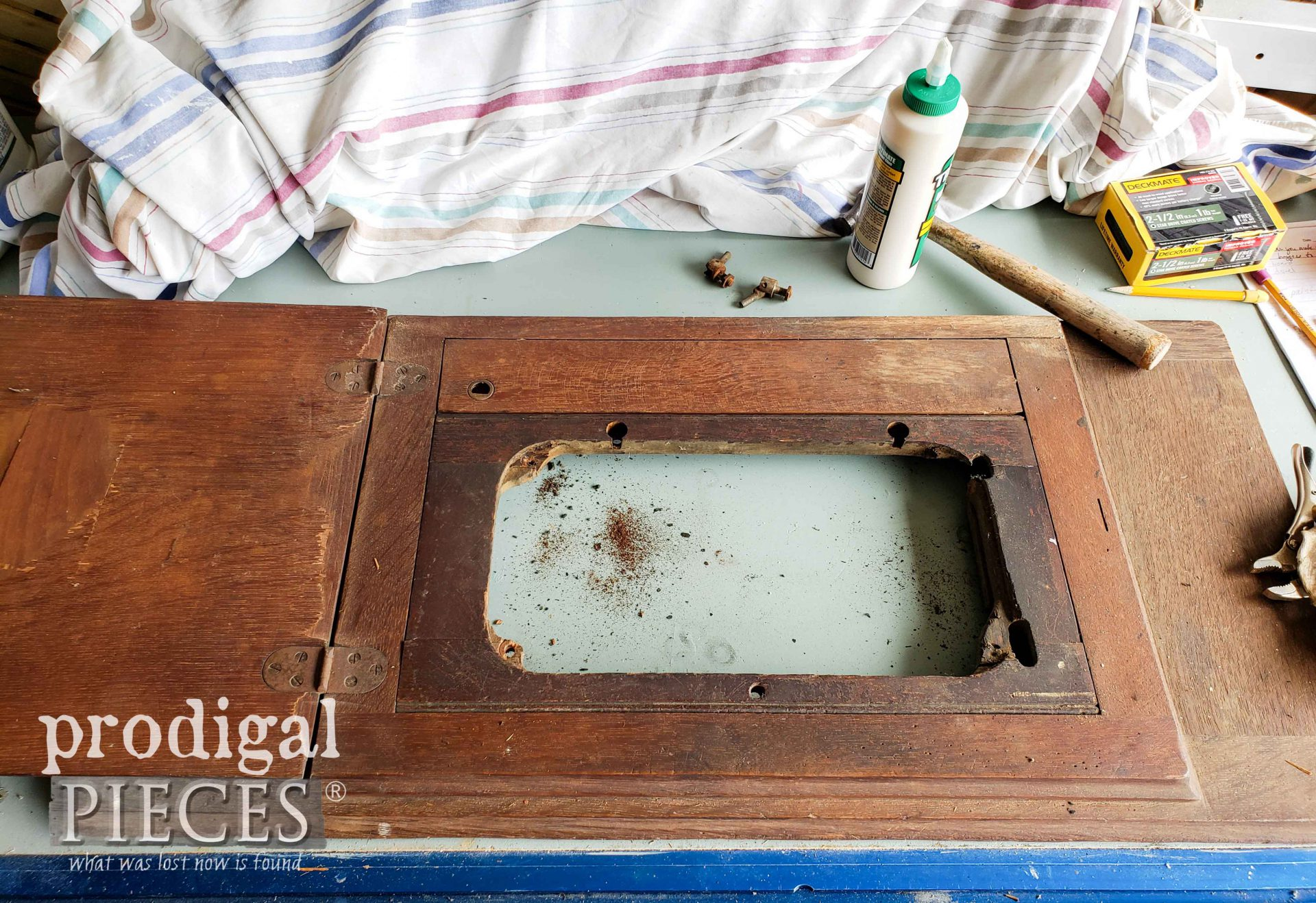 Gutted Treadle Machine Top | prodigalpieces.com