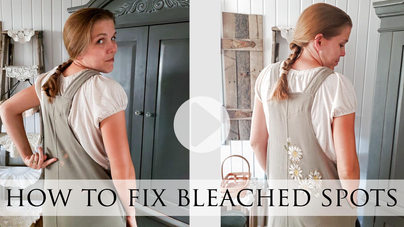 Video Tutorial How to Fix Bleached Spots by Larissa of Prodigal Pieces   prodigalpieces.com #prodigalpieces