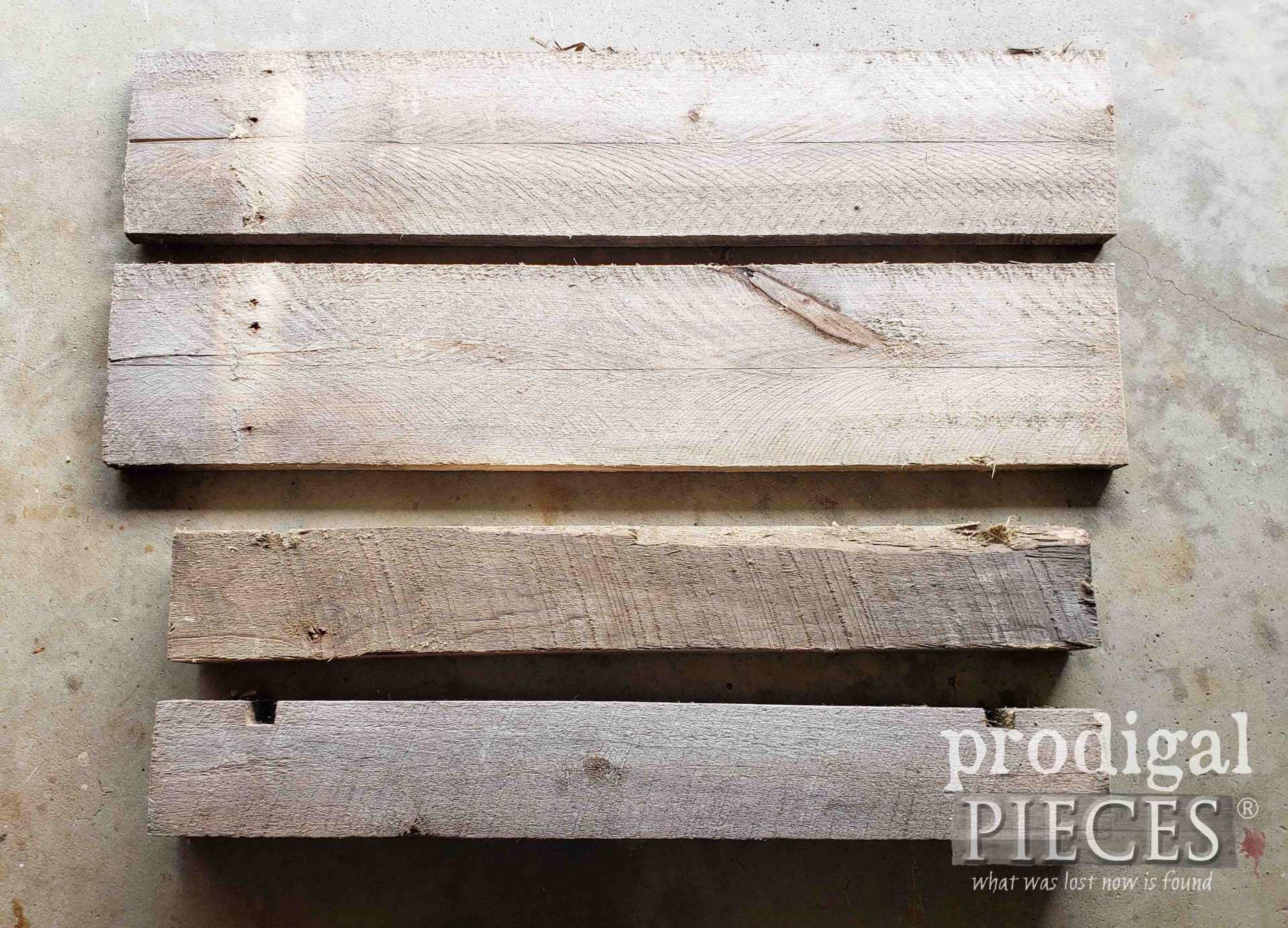 Weathered Pallets Before Upcycle by Prodigal Pieces | prodigalpieces.com