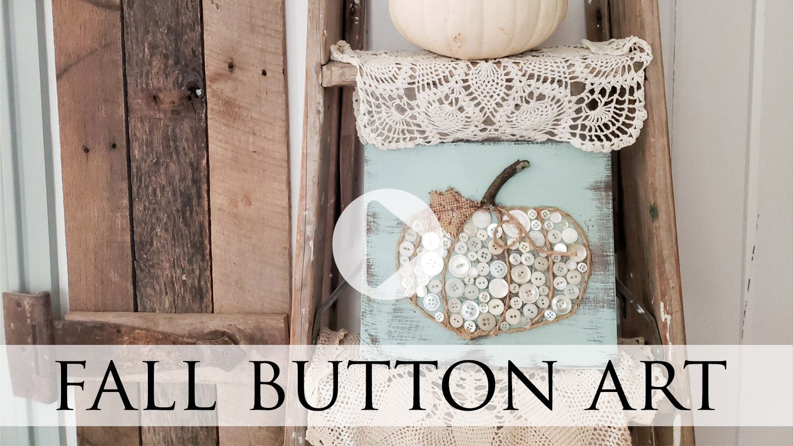 Create fun fall art with upcycled buttons by Larissa of Prodigal Pieces & Kids | prodigalpieces.com #prodigalpieces #fall #crafts #autumn #handmade #kids