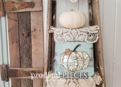Featured Fall Button Pumpkin Art for Prodigal Pieces Kids CREATE at prodigalpieces.com #prodigalpieces #crafts #diy #fall #home #homedecor #farmhouse