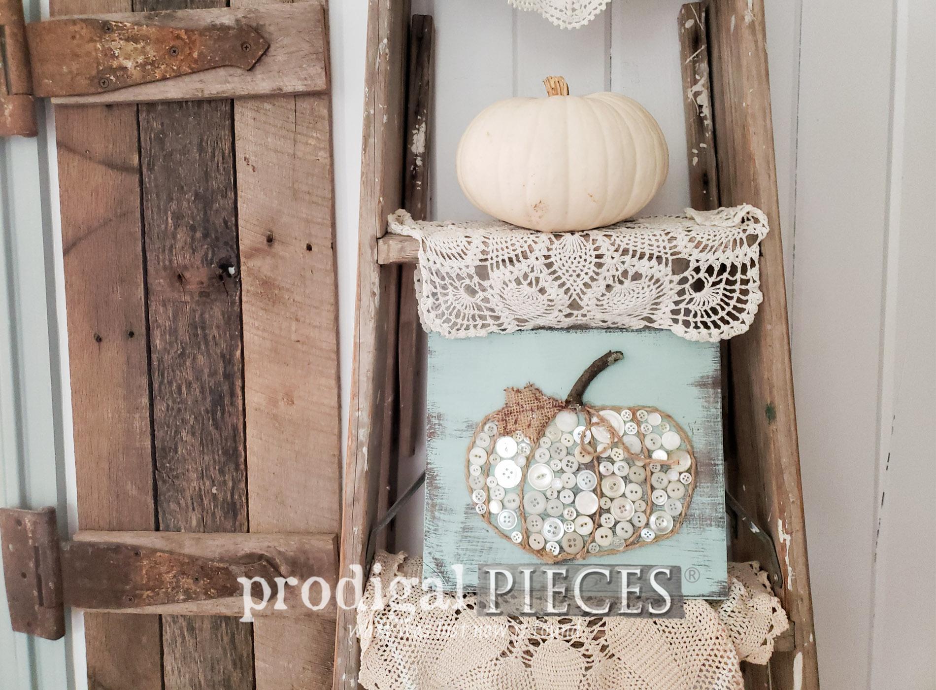 Featured Fall Button Pumpkin Art for Prodigal Pieces Kids CREATE at prodigalpieces.com #prodigalpieces #crafts #diy #fall #home #homedecor #farmhouse