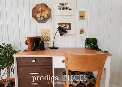 Featured Mid Century Modern Desk from Upcycled Sewing Machine Desk by Larissa of Prodigal Pieces | prodigalpieces.com #prodigalpieces #furniture #home #homedecor #midcentury #modern #vintage #retro