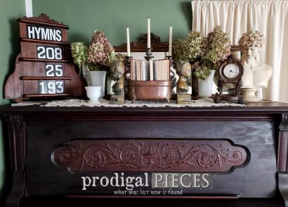 Featured Upcycled Hymn Board from Salvaged Parts by Larissa of Prodigal Pieces | prodigalpieces.com #prodigalpieces #diy #upcycled #home #homedecor #farmhouse