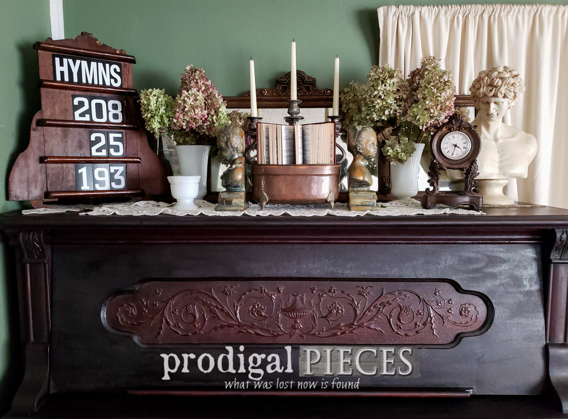 Featured Upcycled Hymn Board from Salvaged Parts by Larissa of Prodigal Pieces   prodigalpieces.com #prodigalpieces #diy #upcycled #home #homedecor #farmhouse