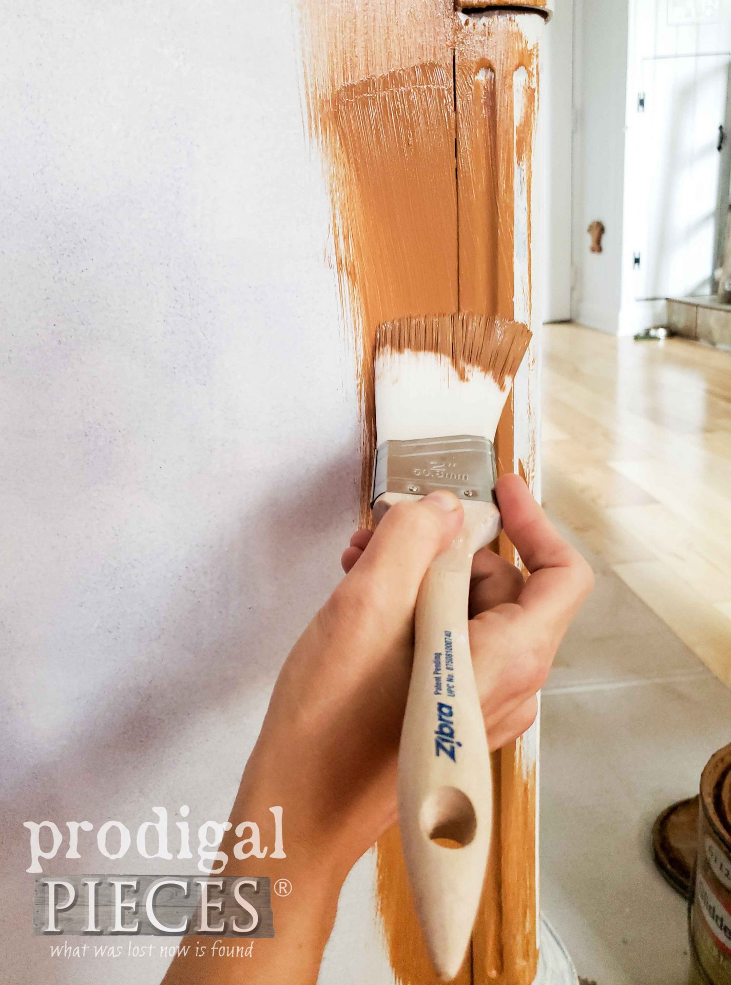 First Coat of Paint on Serpentine Dresser | prodigalpieces.com #prodigalpieces