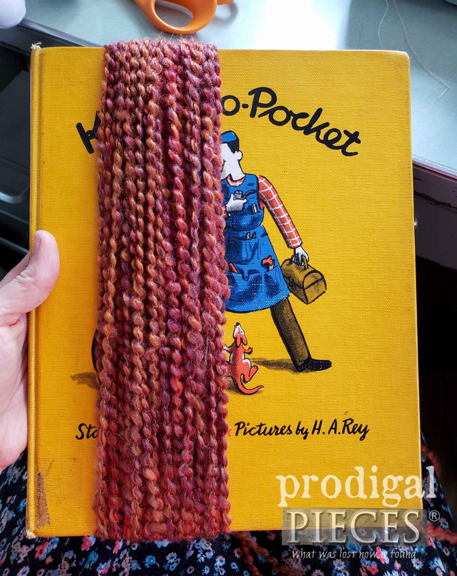 Making Upcycled Sock Dolls Hair   prodigalpieces.com