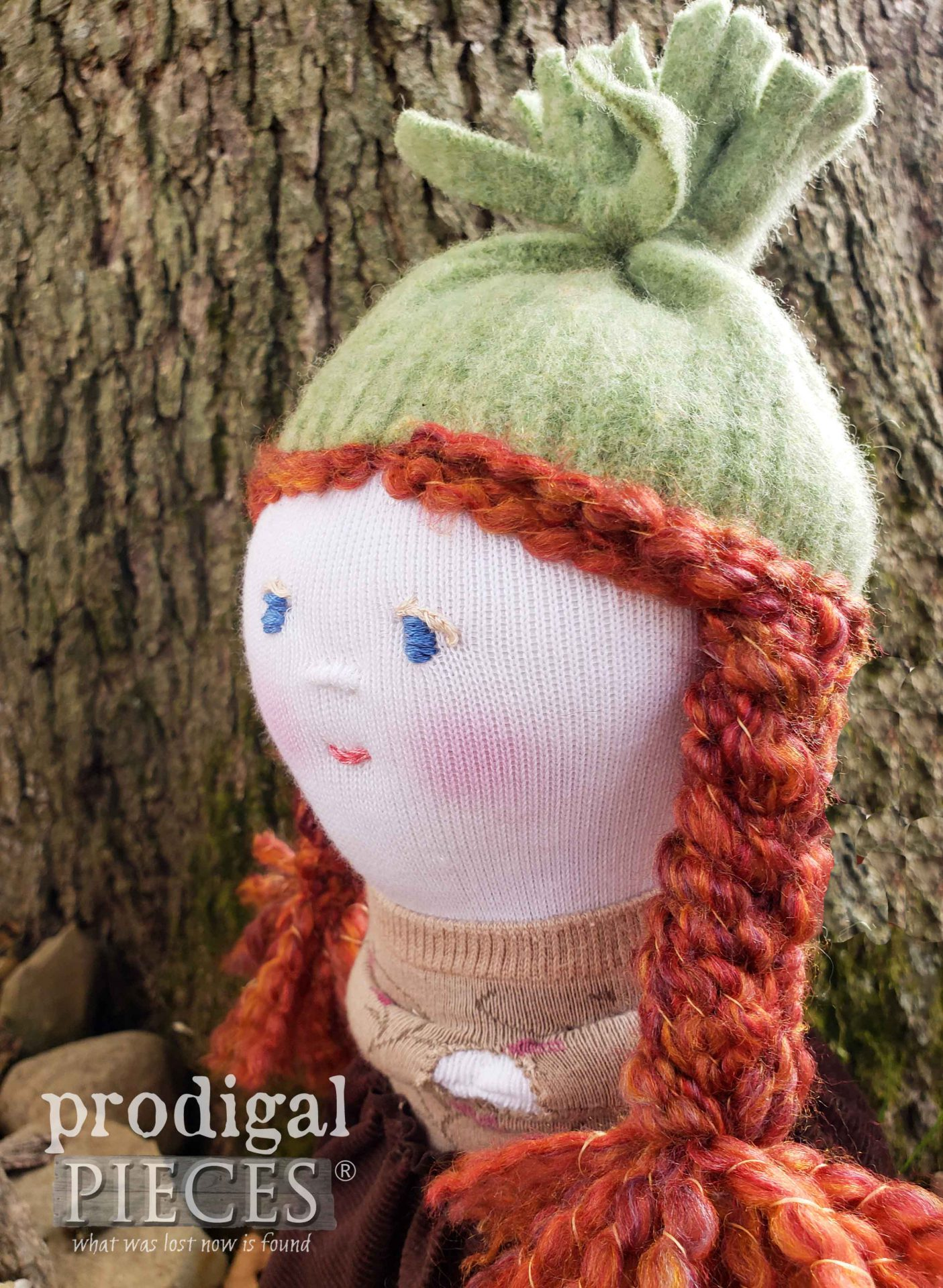 Redhead Sock Doll handmade by Larissa of Prodigal Pieces | prodigalpieces.com #prodigalpieces #diy #handmade #doll #crafts