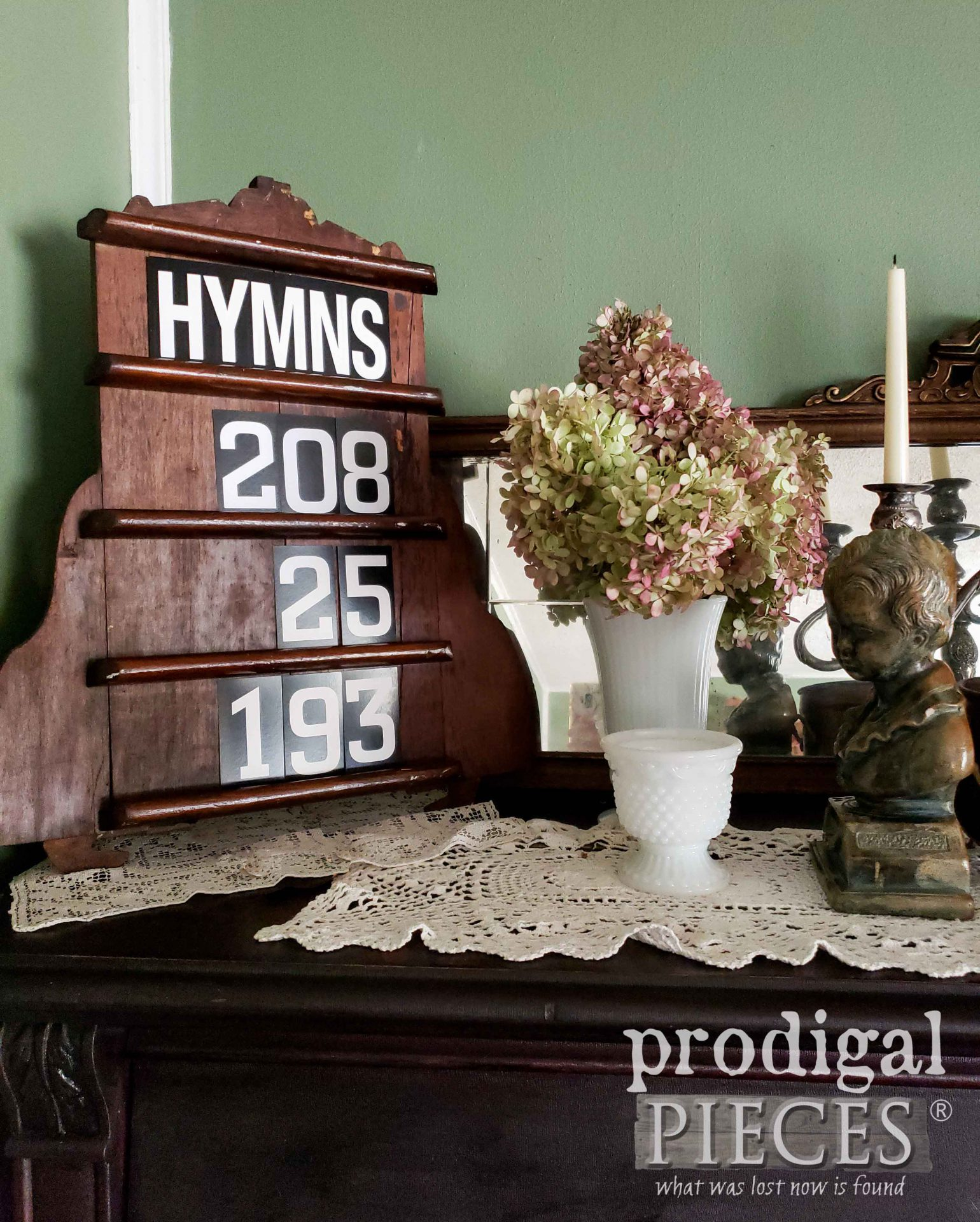 Rustic Farmhouse Upcycled Hymn Board Created from Salvaged Parts by Larissa of Prodigal Pieces | prodigalpieces.com #prodigalpieces #diy #home #farmhouse #homedecor