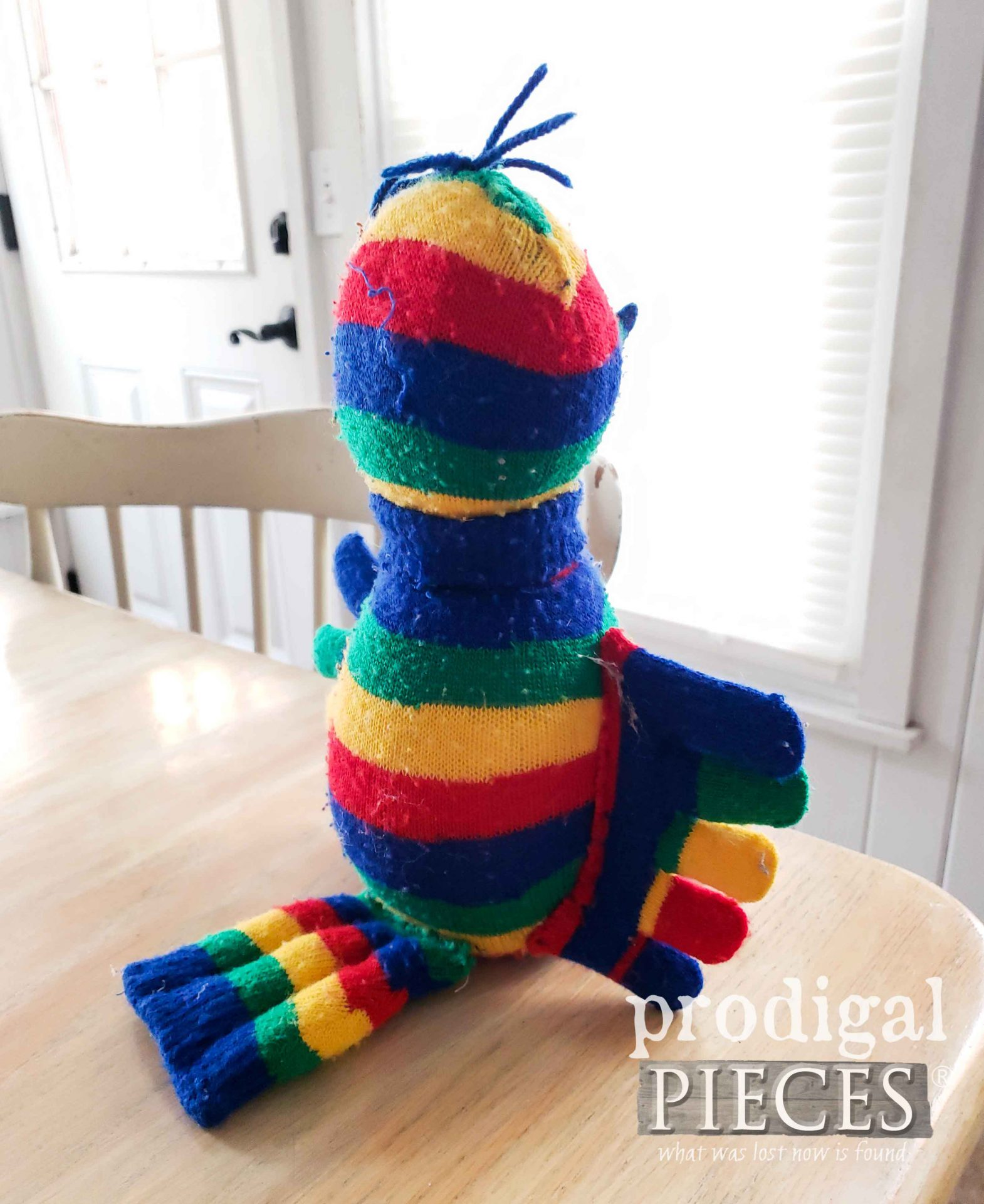 Create a Sock Doll Bird with Toe Socks | prodigalpieces.com #prodigalpieces