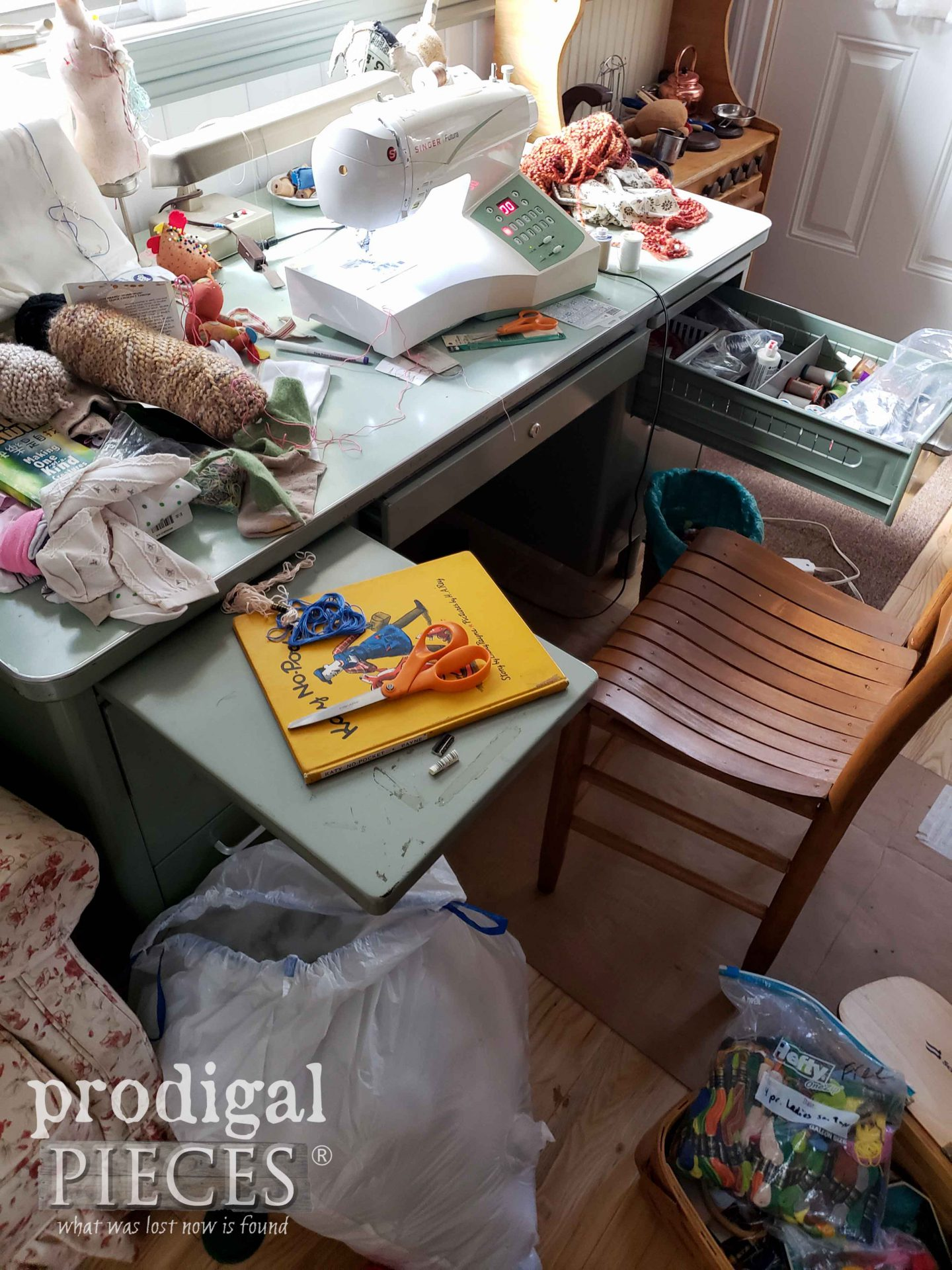 Sock Doll Making Mess is Fun | prodigalpieces.com