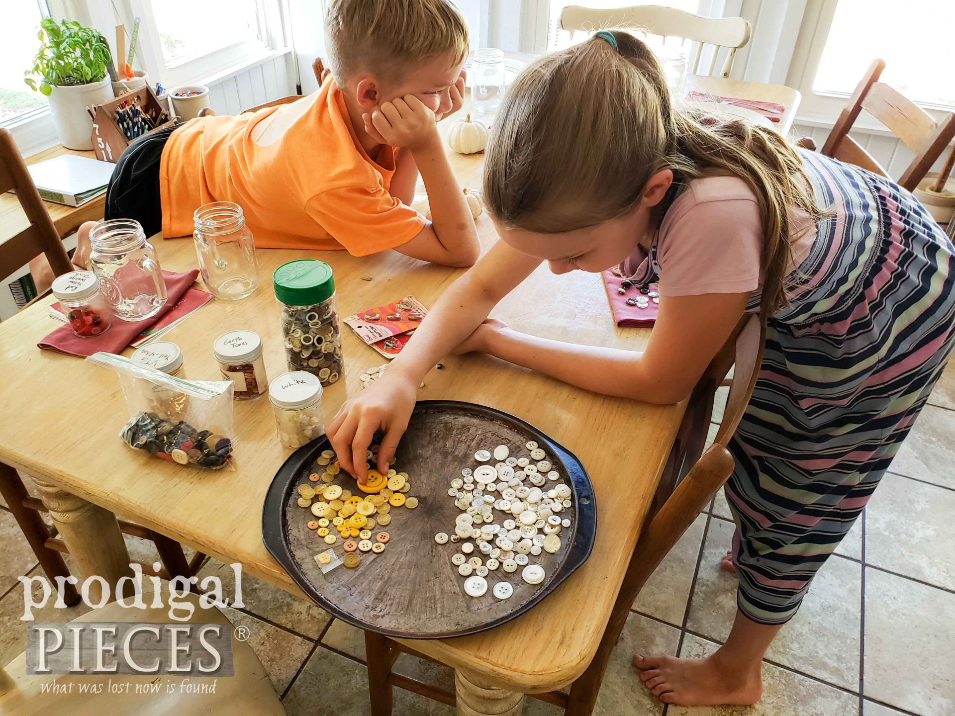 Sorting Collection of Vintage Buttons with Kids | prodigalpieces.com