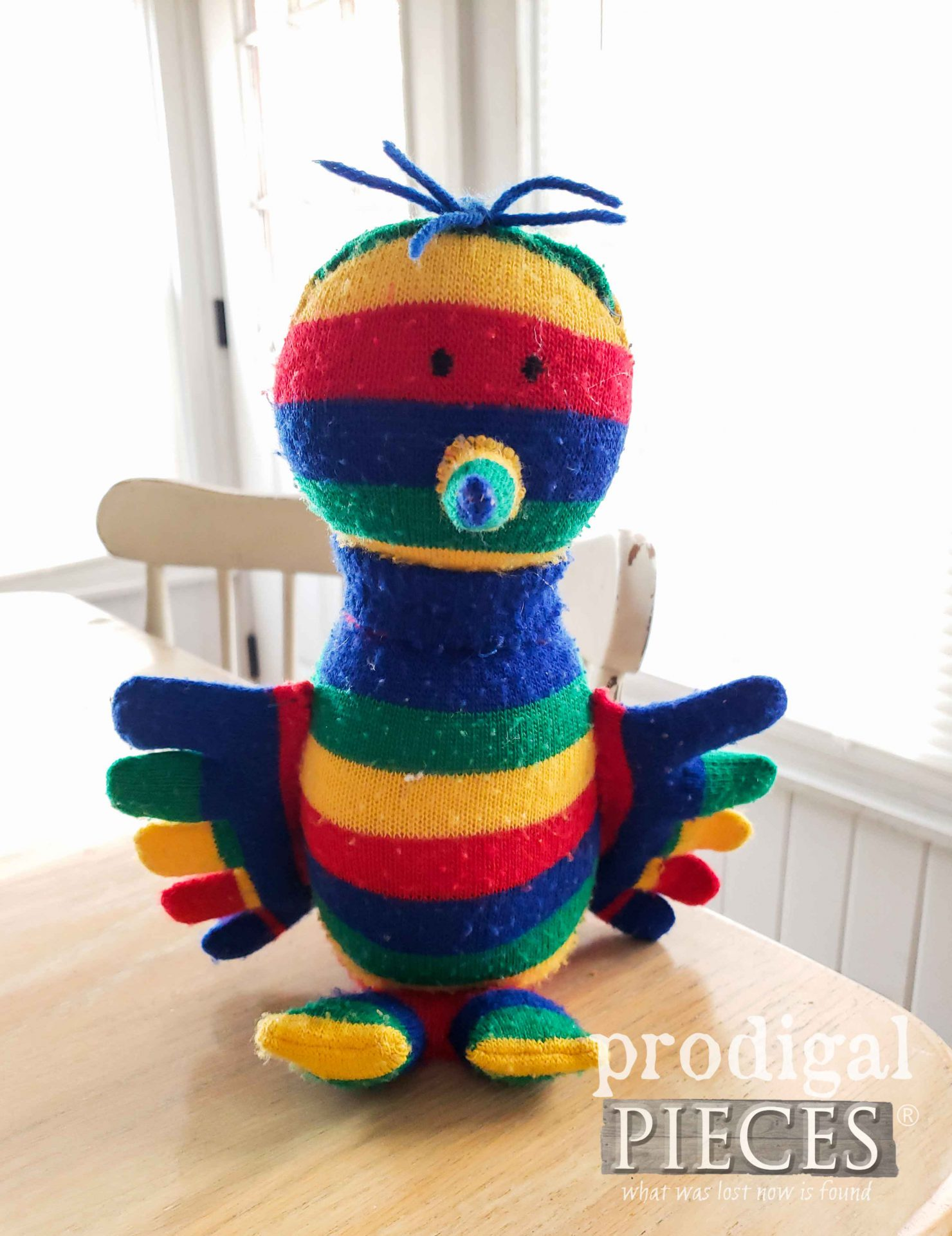 Toe Sock Doll ~ A Whimsical Bird Creation by Prodigal Pieces | prodigalpieces.com #prodigalpieces