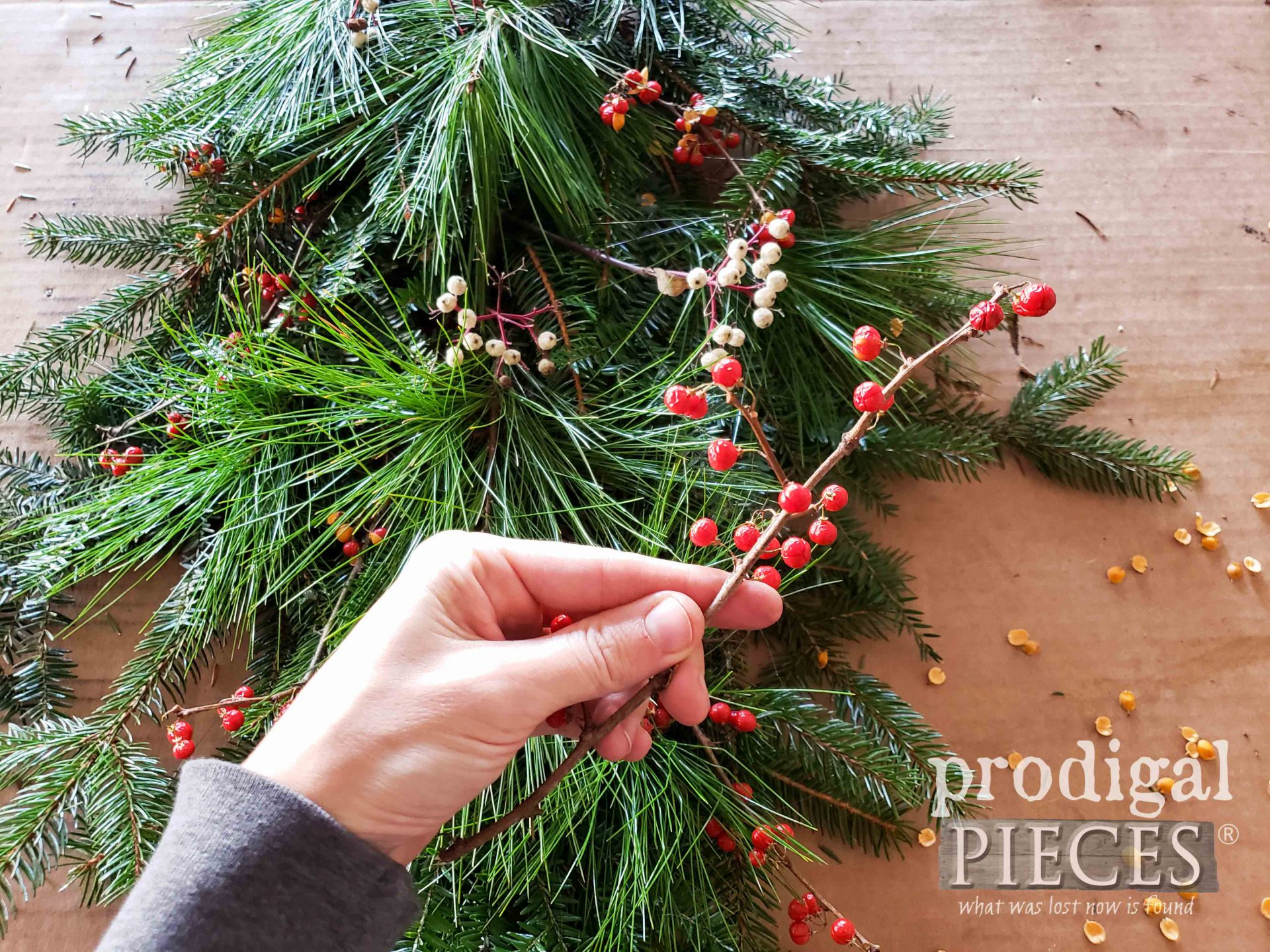 Bittersweet Berries for Color Pop in DIY Christmas Swag by Larissa of Prodigal Pieces | prodigalpieces.com #prodigalpieces