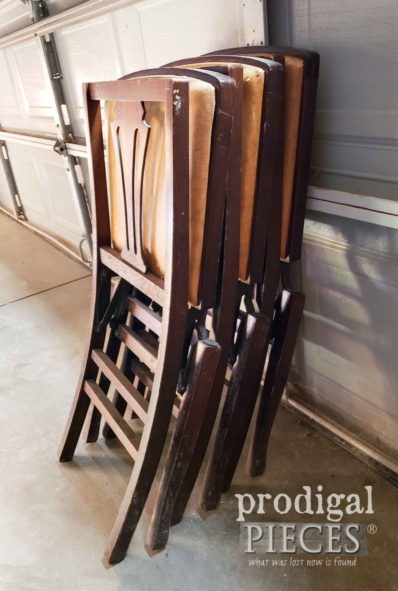 Stack of The Solid Kumfort Vintage Folding Chairs | prodigalpieces.com
