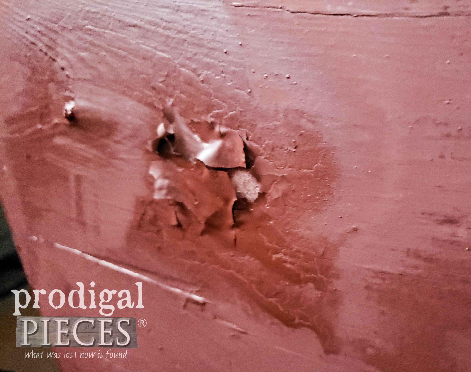 Crackling Milk Paint by Heat Gun | prodigalpieces.com