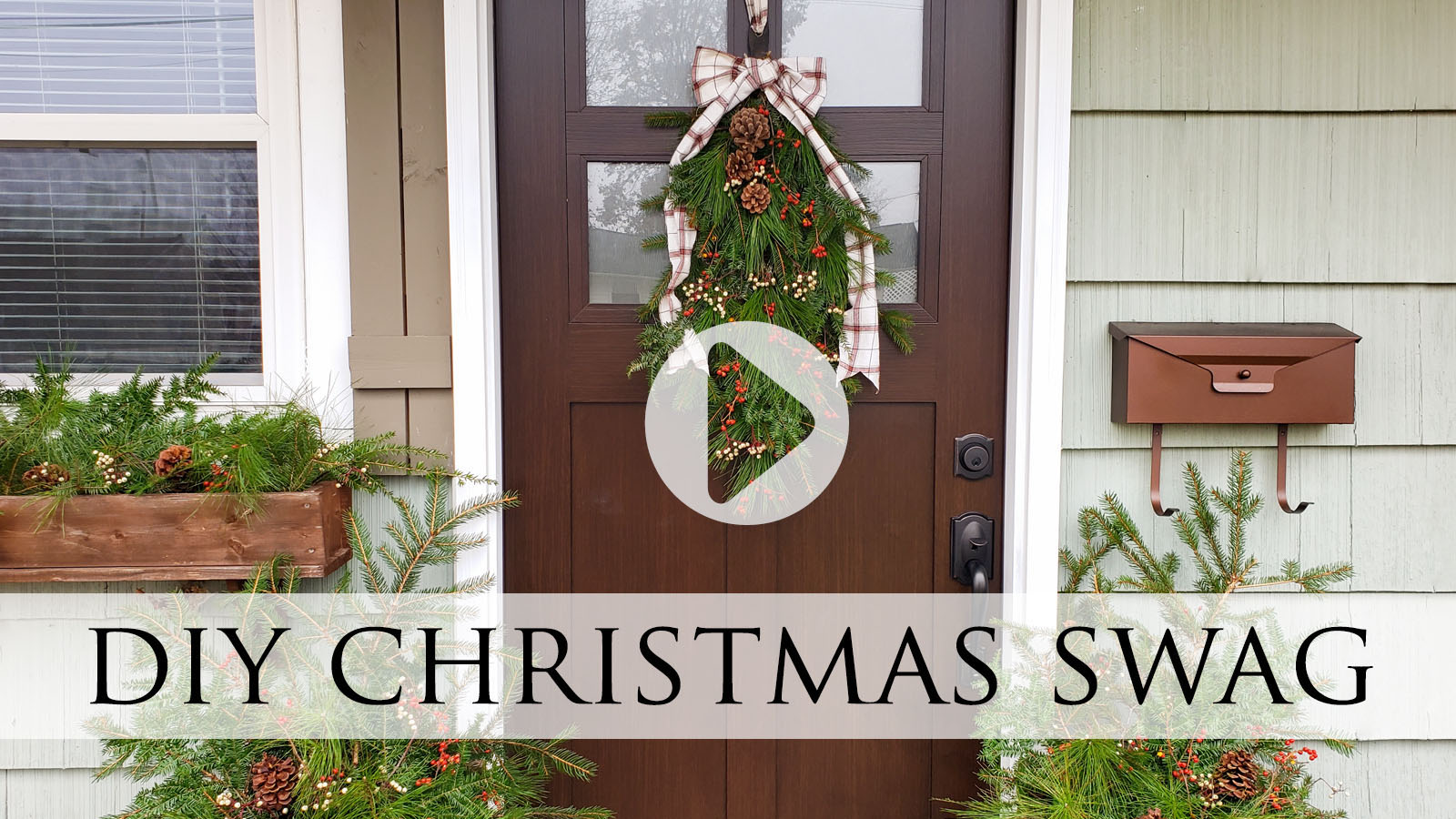 DIY Christmas Swag Video Tutorial by Larissa of Prodigal Pieces   prodigalpieces.com