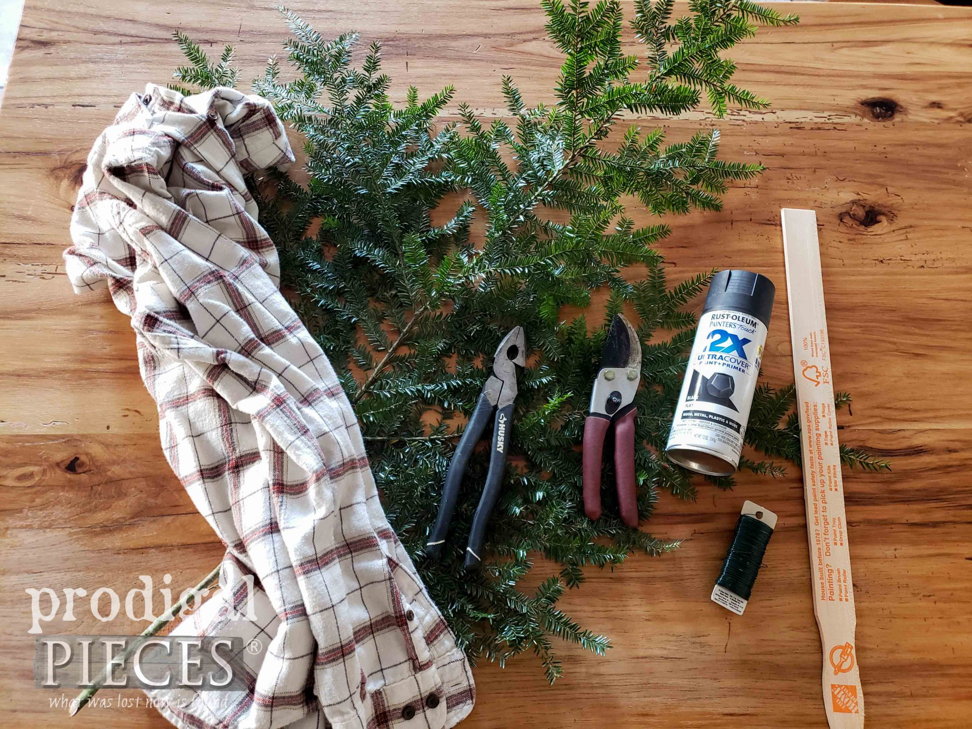 DIY Christmas Swag Supplies & Tools | prodigalpieces.com #prodigalpieces