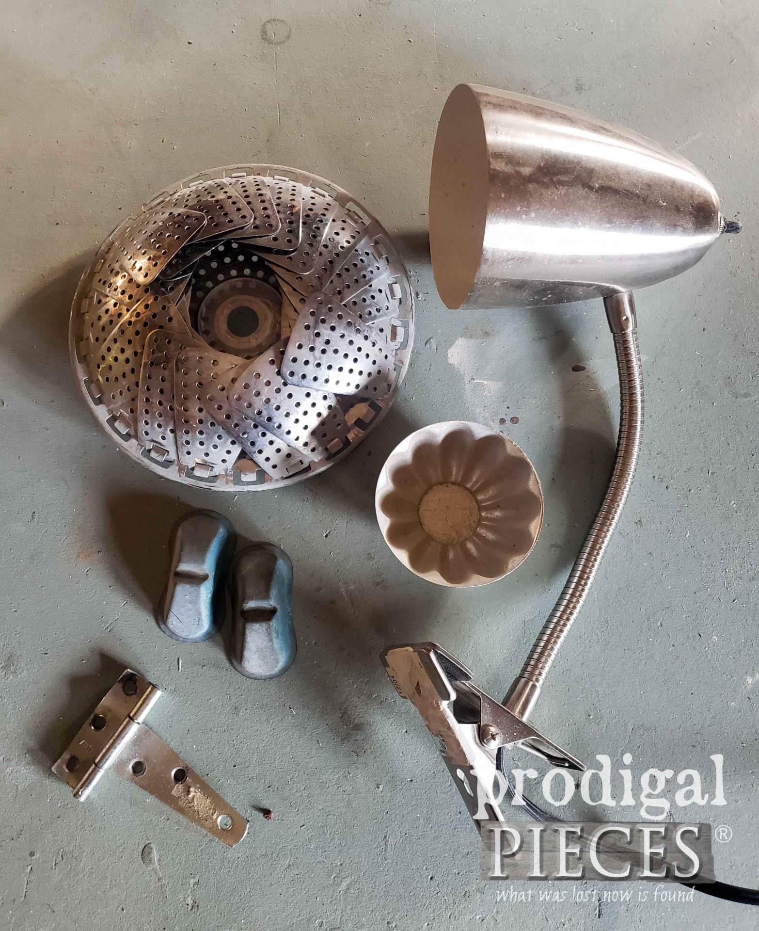 Salvaged Metal Junk Before Upcycle | prodigalpieces.com