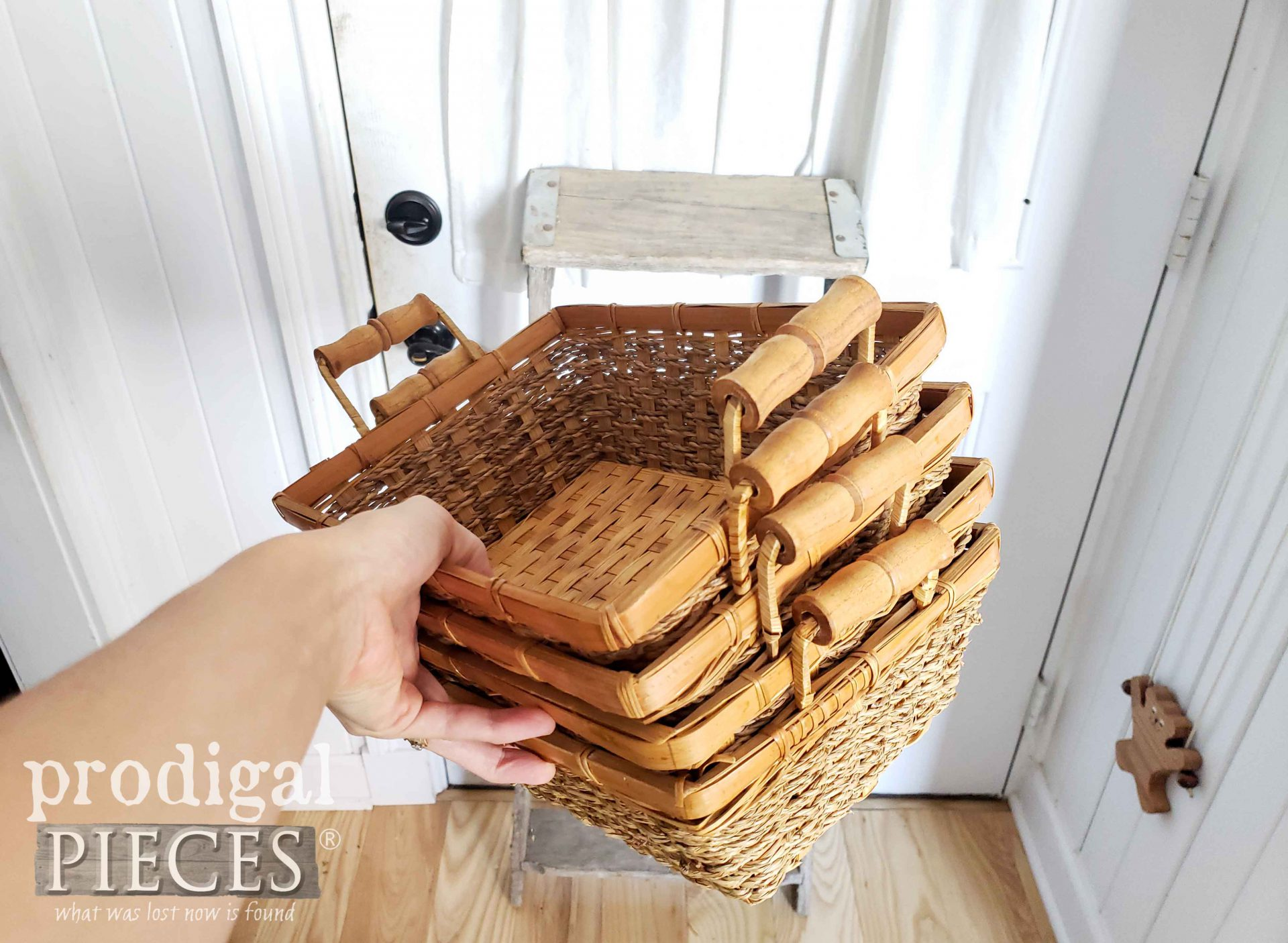 Set of Thrifted Baskets for Farmhouse Decor by Larissa of Prodigal Pieces | prodigalpieces.com #prodigalpieces