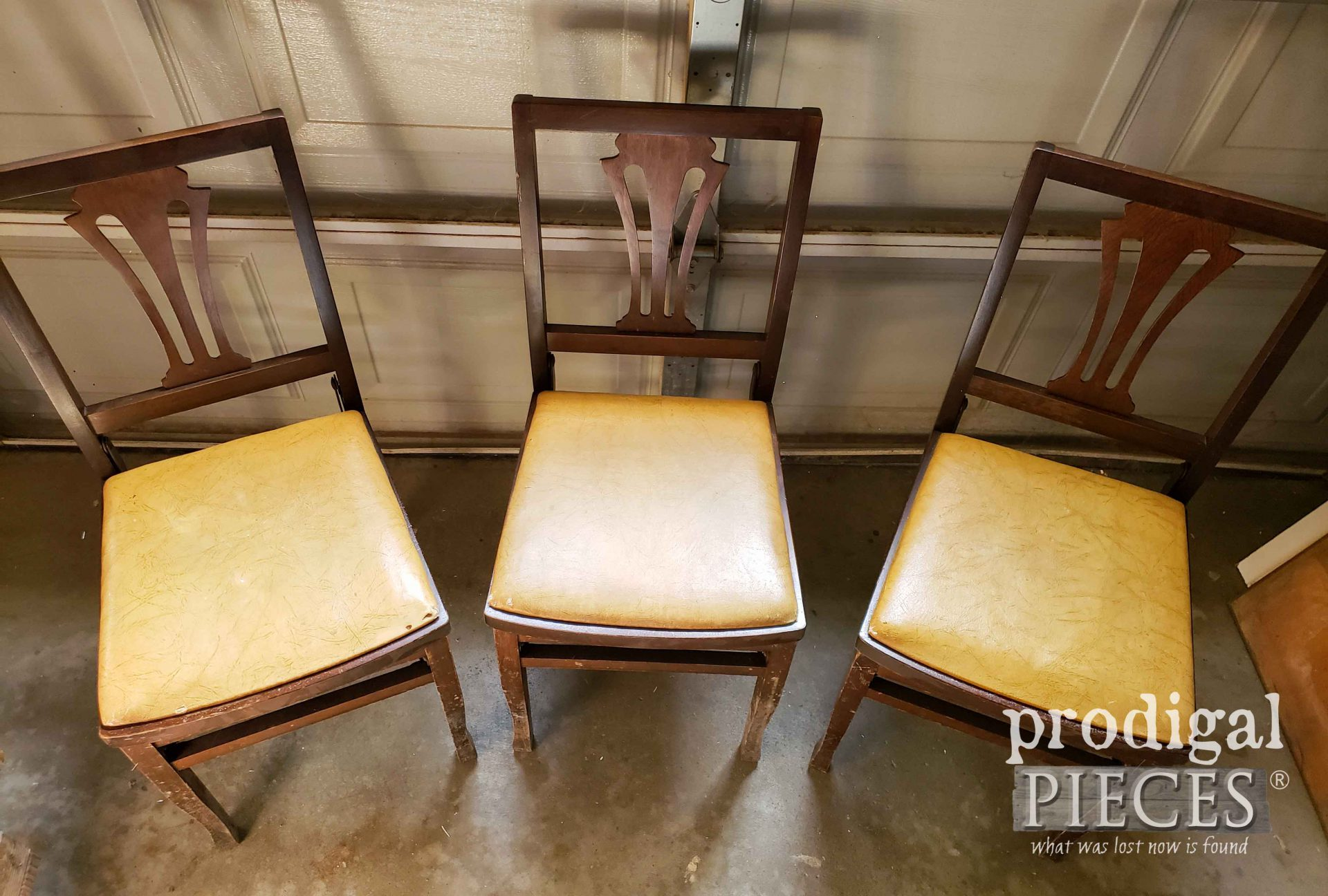 Original Vinyl Upholstery on Solid Kumfort Folding Chairs | prodigalpieces.com
