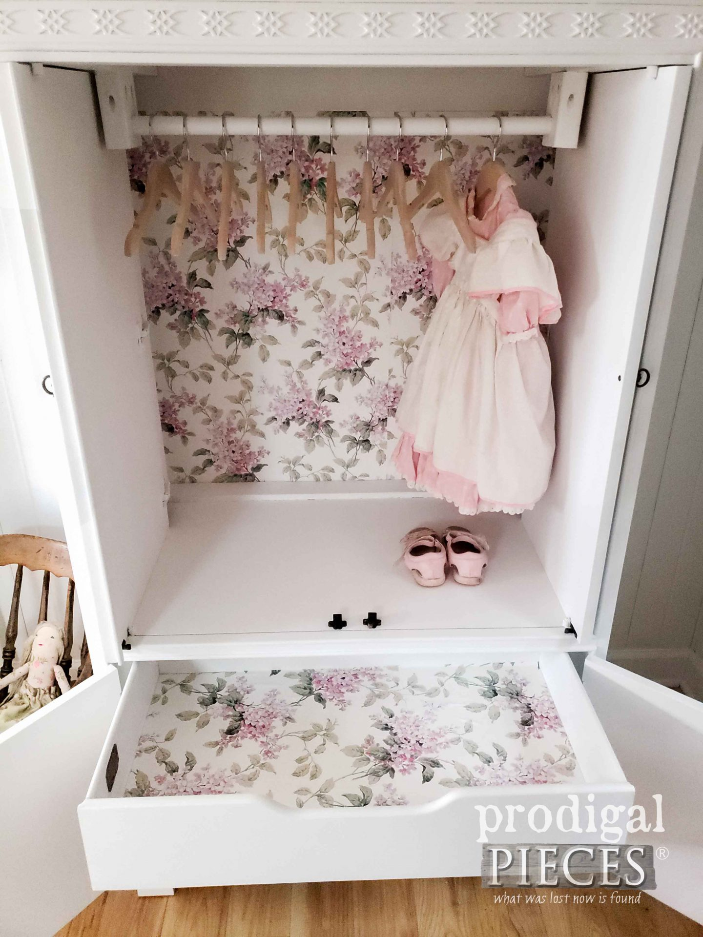 Upcycled Child's Wardrobe for Baby Nursery by Larissa of Prodigal Pieces | prodigalpieces.com #prodigalpieces #diy #furniture #home #homedecor #nursery #baby