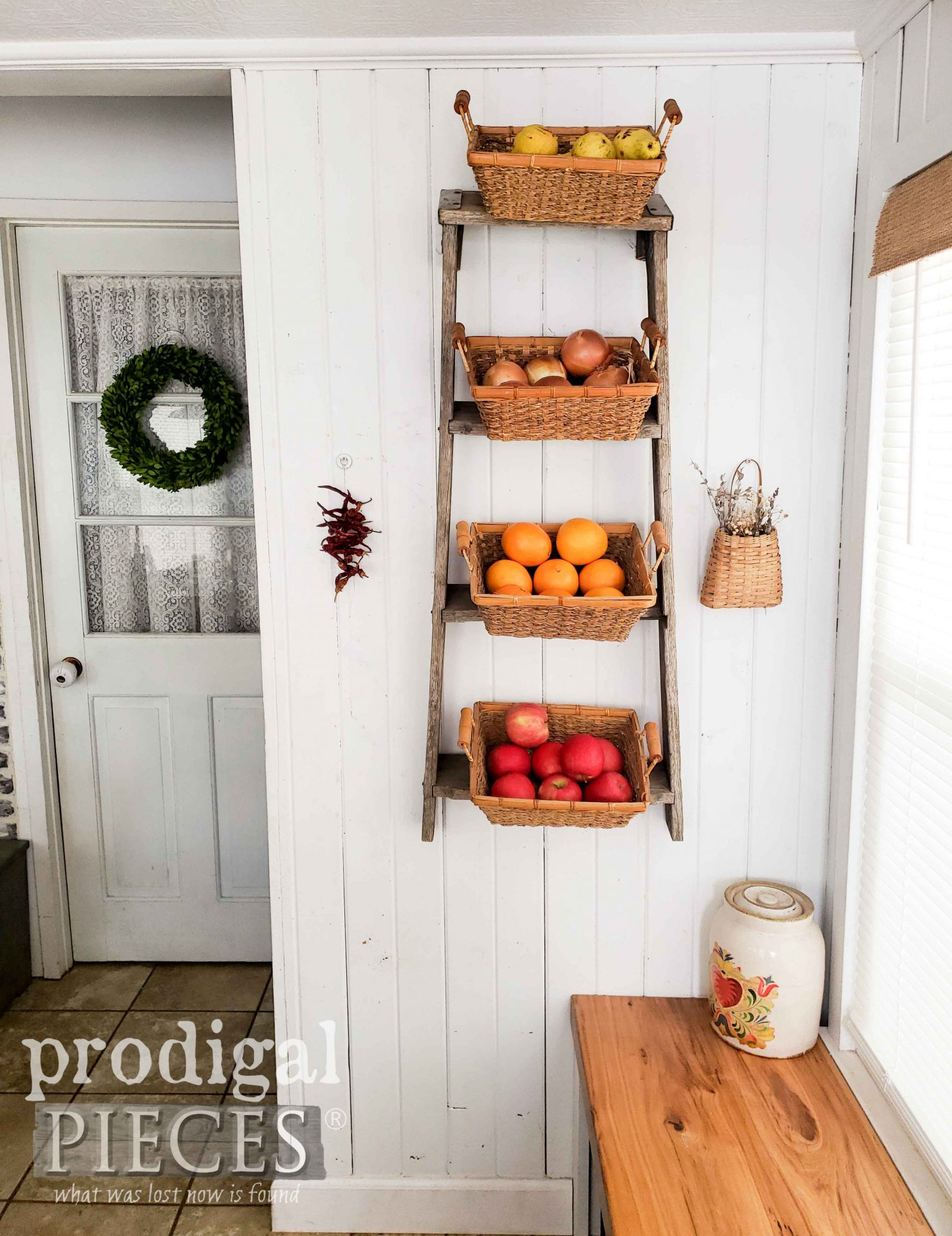 Upcycled Broken Ladder Into Farmhouse Decor Prodigal Pieces