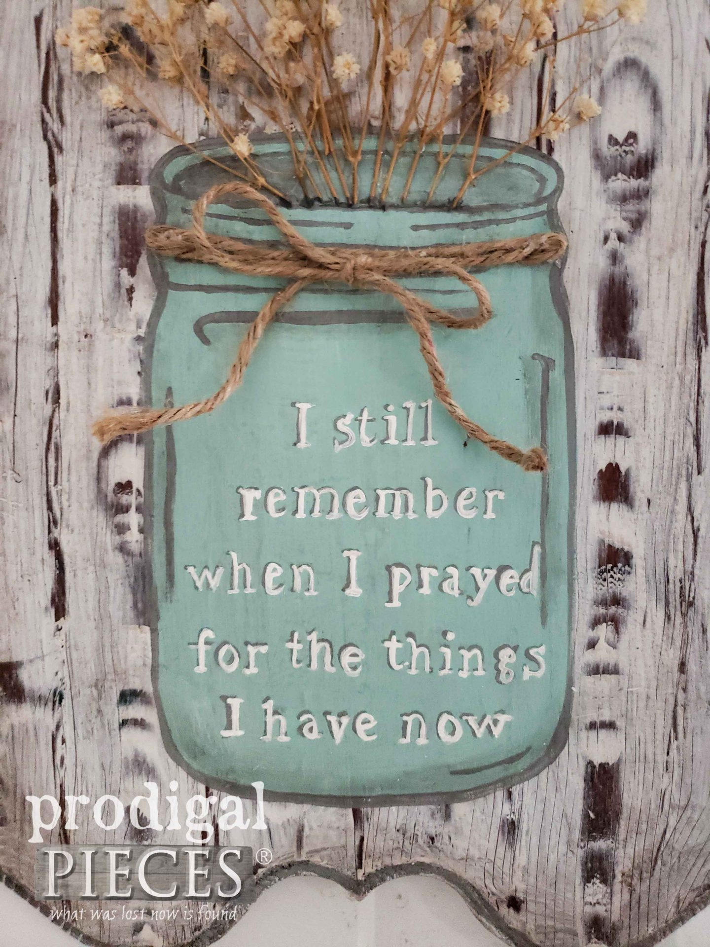 Ball Jar Blessings Sign Handmade by Larissa of Prodigal Pieces | prodigalpieces.com #prodigalpieces #home #farmhouse #diy #homedecor