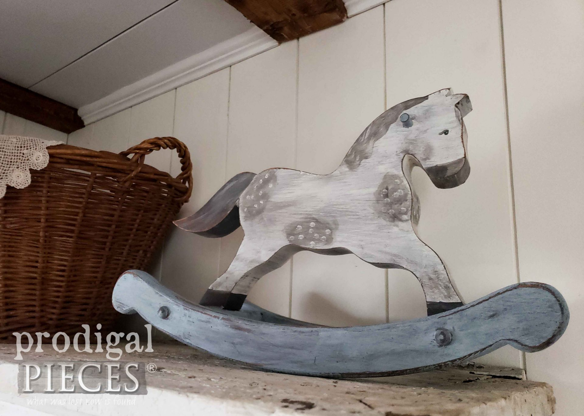 Dappled Gray Rocking Horse by Larissa of Prodigal Pieces | prodigalpieces.com #prodigalpieces #farmhouse #horse #toy