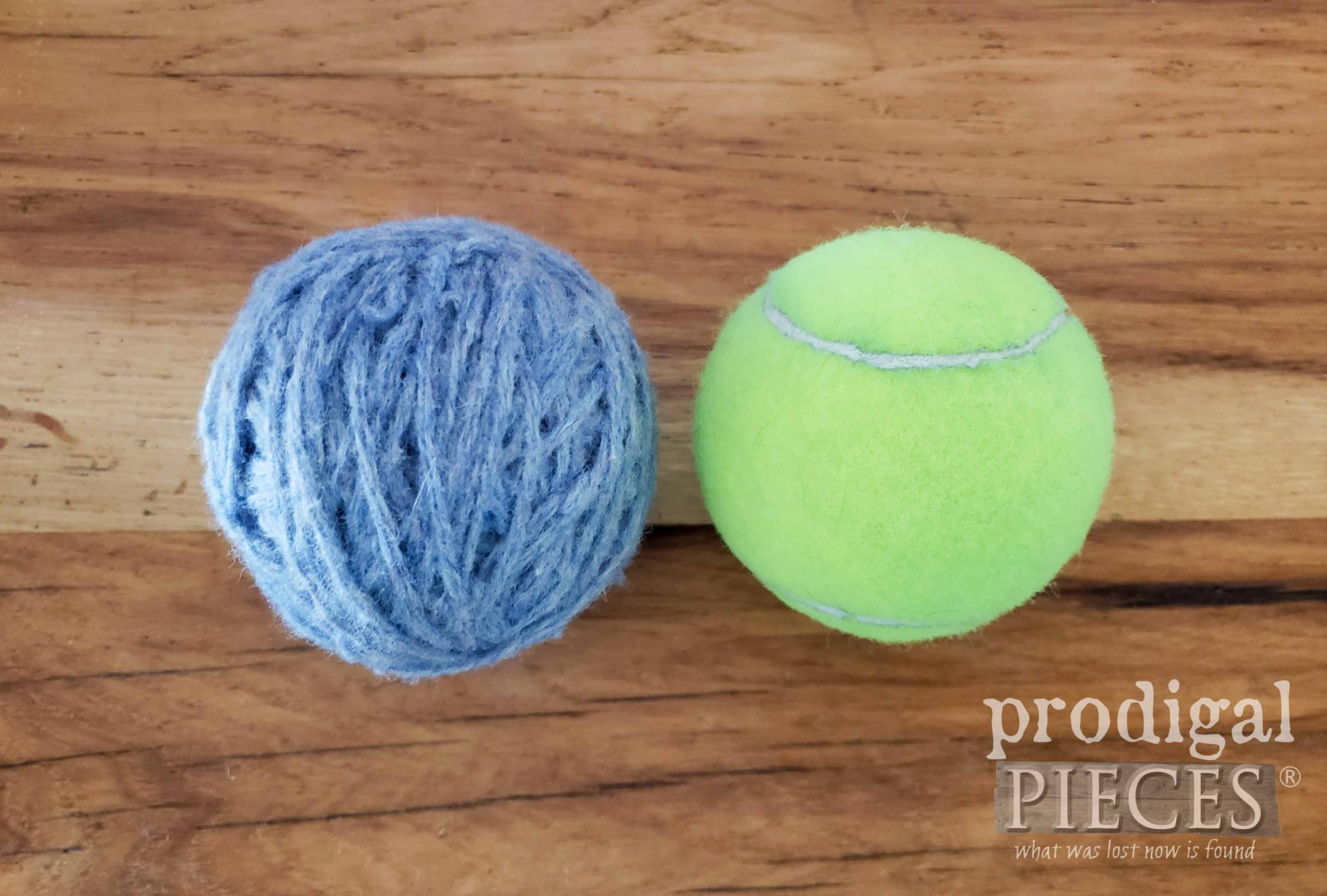 DIY Dryer Ball Size | prodigalpieces.com