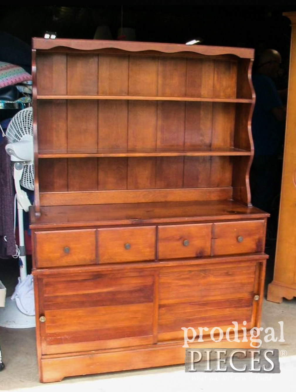 Vintage Farmhouse Hutch Before Makeover by Larissa of Prodigal Pieces | prodigalpieces.com #prodigalpieces