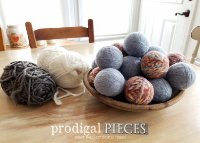 Featured DIY Wool Dryer Balls with Video Tutorial by Larissa of Prodigal Pieces | prodigalpieces.com #prodigalpieces #diy #home #laundry #upcycle #handmade #wool #crafts