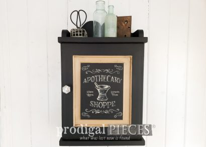 Featured Vintage Apothecary Cabinet Makeover by Larissa of Prodigal Pieces | DIY tutorial at prodigalpieces.com #prodigalpieces #farmhouse #home #homedecor #diy #apothecary