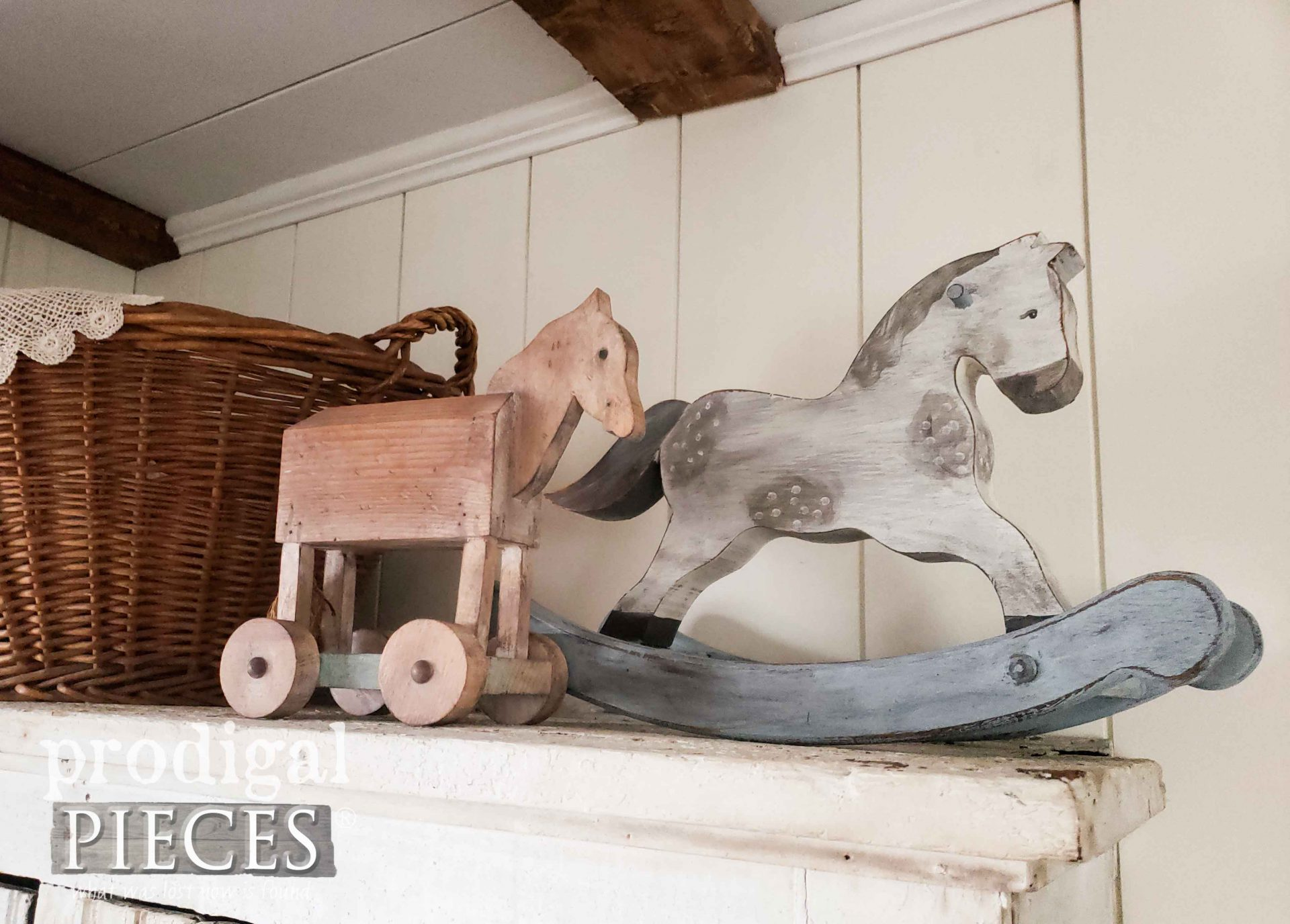 Handmade Miniature Rocking Horses for Farmhouse Decor by Larissa of Prodigal Pieces | prodigalpieces.com #prodigalpieces #farmhouse #home #handmade #homedecor