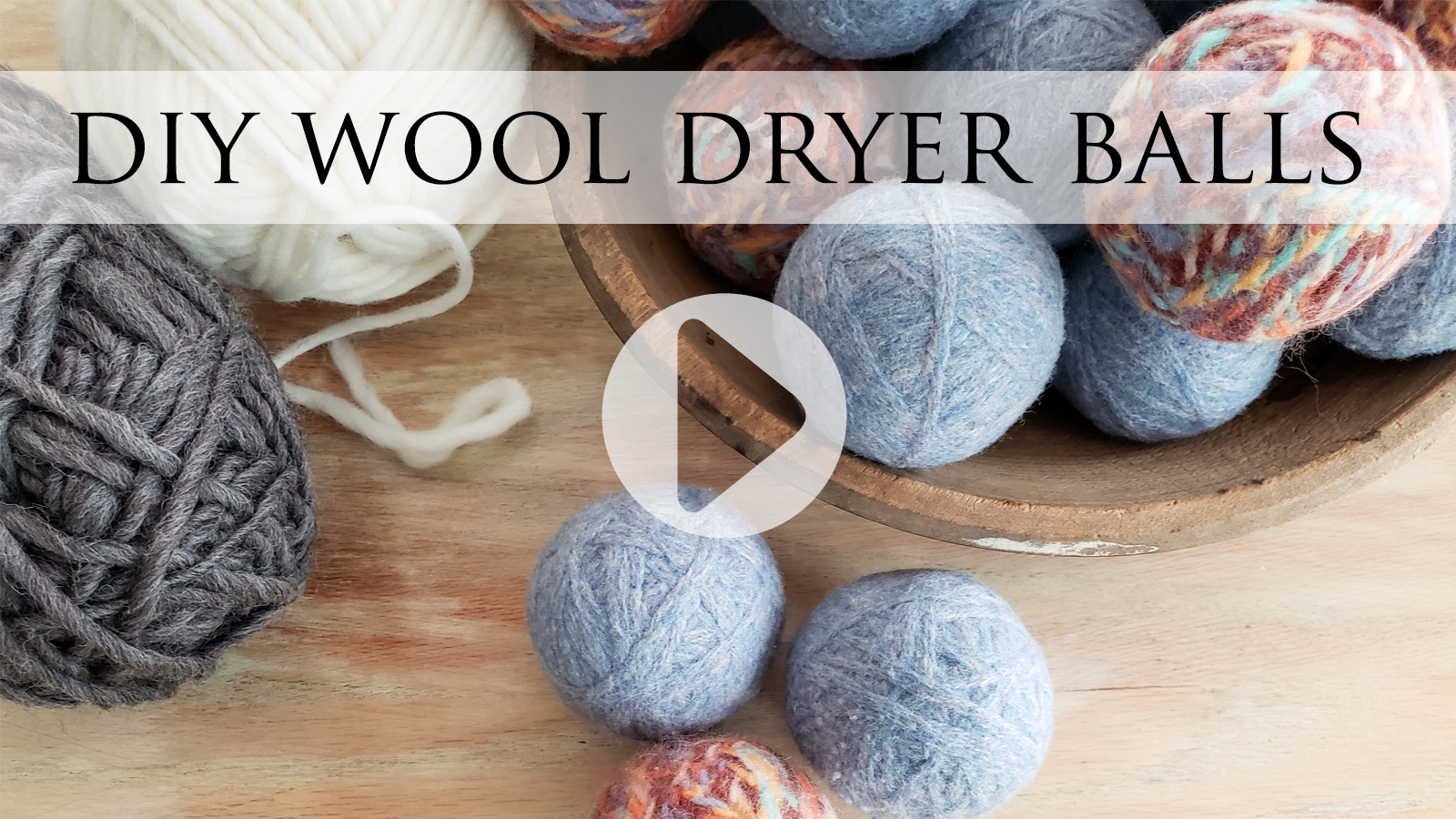DIY Wool Dryer Balls Video Tutorial from a Felted Sweater by Larissa of Prodigal Pieces | prodigalpieces.com #prodigalpieces
