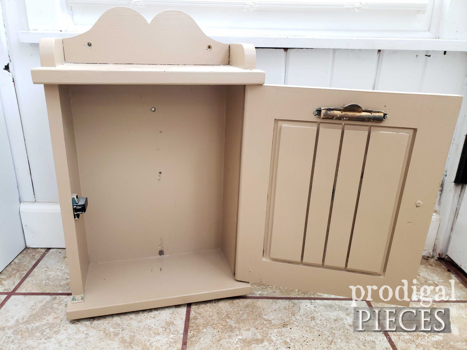 Open Handmade Vintage Medicine Cabinet | prodigalpieces.com