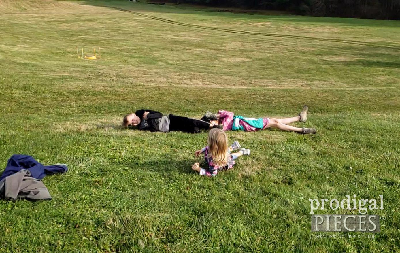 Kids Rolling Downhill | I choose joy | prodigalpieces.com
