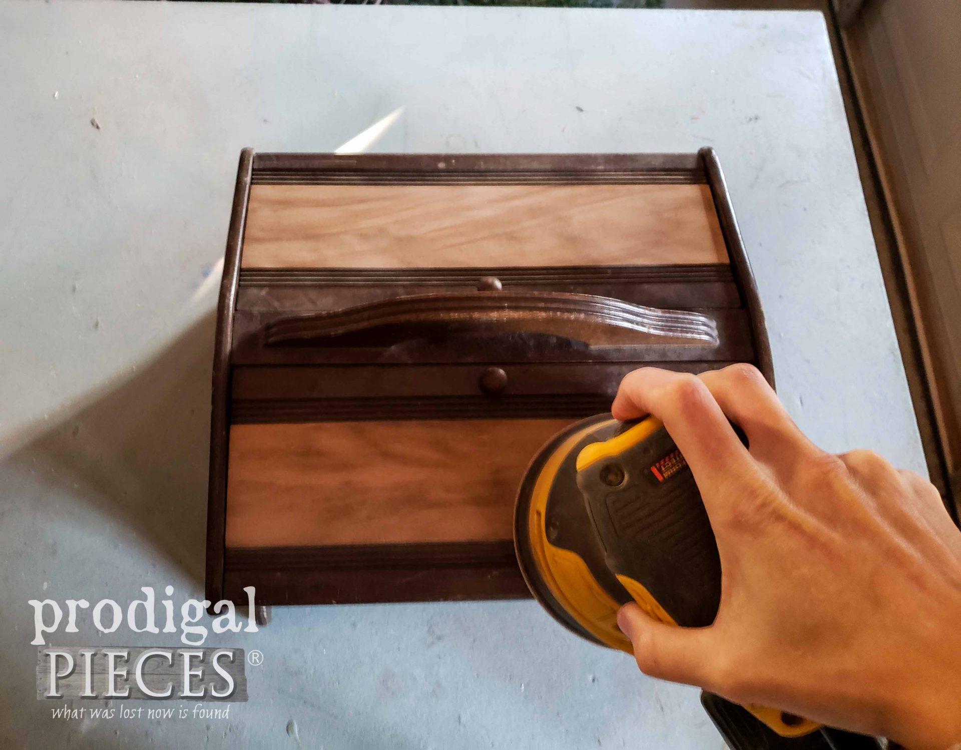Sanding Vintage Sewing Box | prodigalpieces.com
