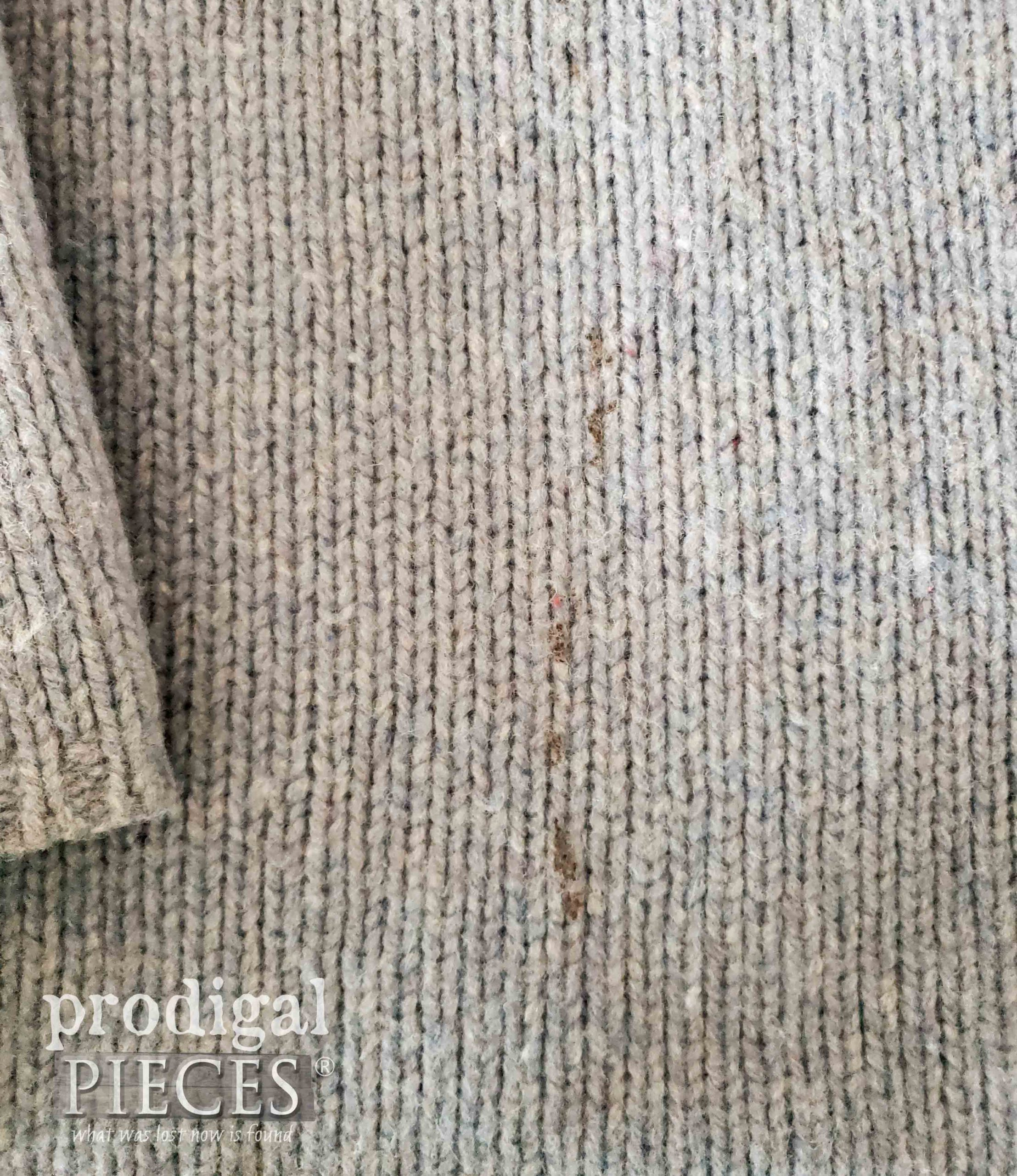 Stained Wool Sweater Perfect for Upcycling | prodigalpieces.com