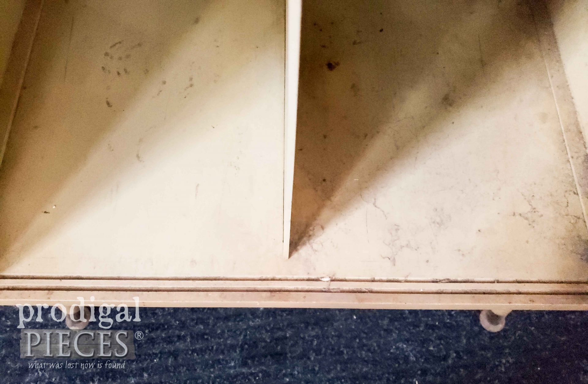 Vintage Media Stand Door Slots | prodigalpieces.com