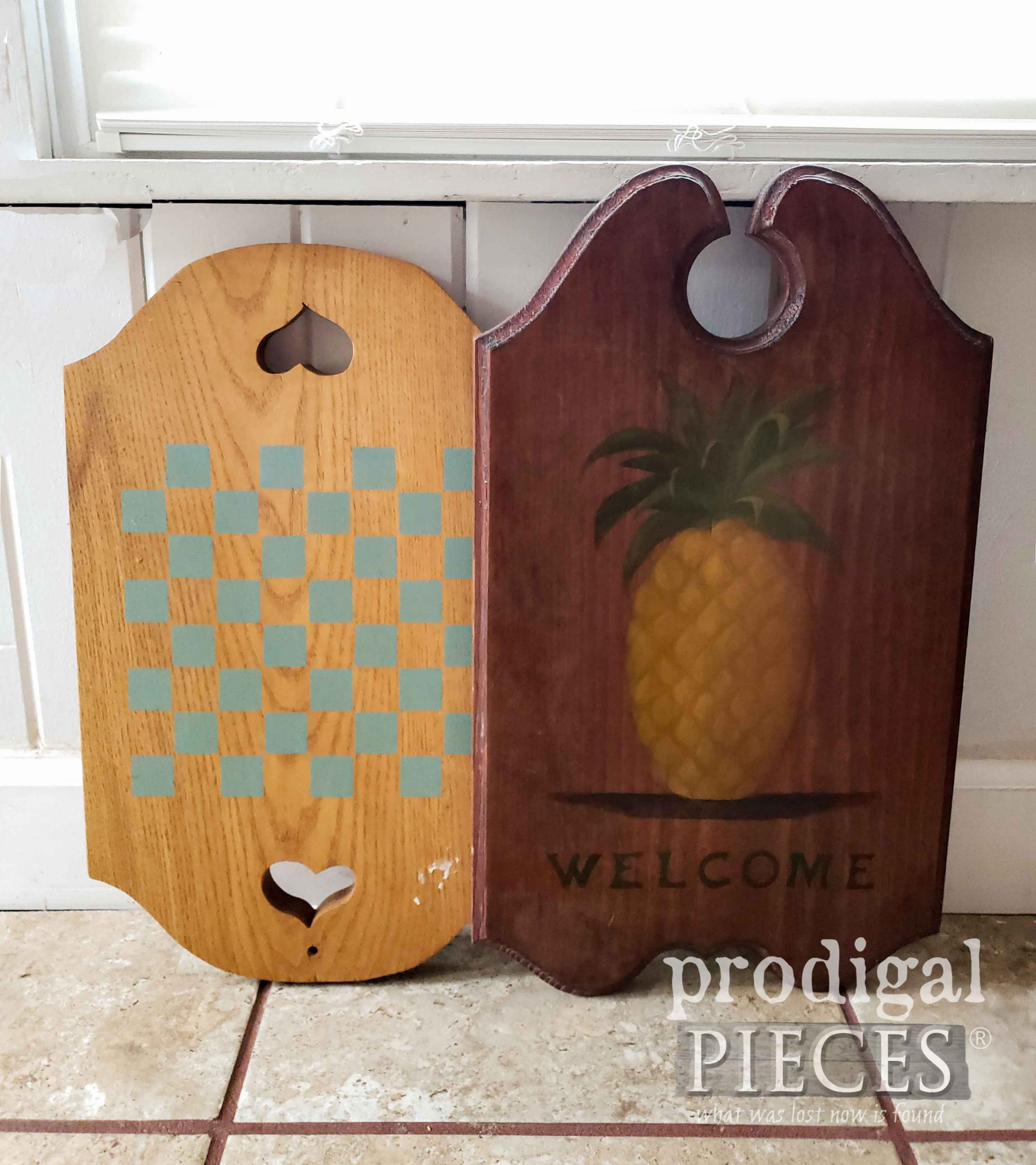 Thrifted Wooden Signs Before Makeover by Prodigal Pieces | prodigalpieces.com #prodigalpieces