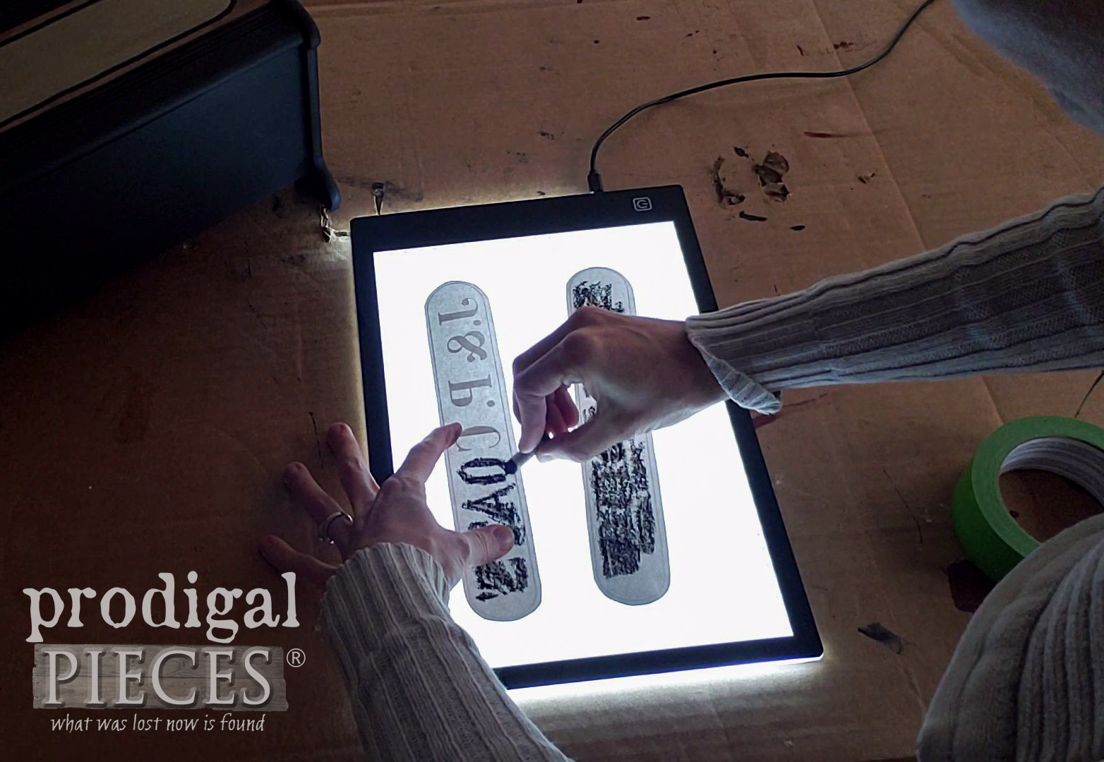 DIY Image Transfer with a Light Pad and Oil Pastels | Tutorial by Larissa of Prodigal Pieces | prodigalpieces.com #prodigalpieces