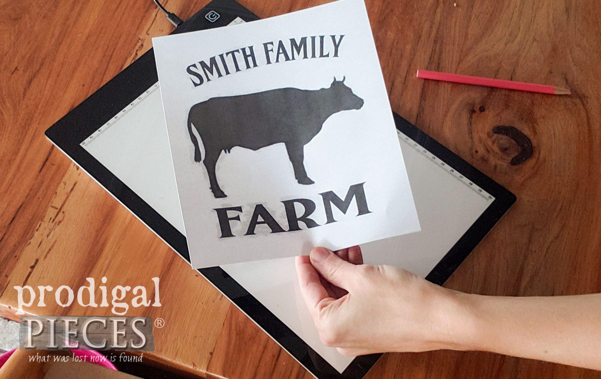 Dairy Farm Graphic Transfer for Farmhouse Trash Can | prodigalpieces.com